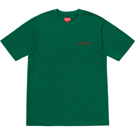 Embroidered Pocket Tee (Green)