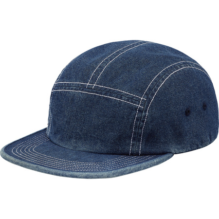Fitted Rear Patch Camp Cap (Denim)