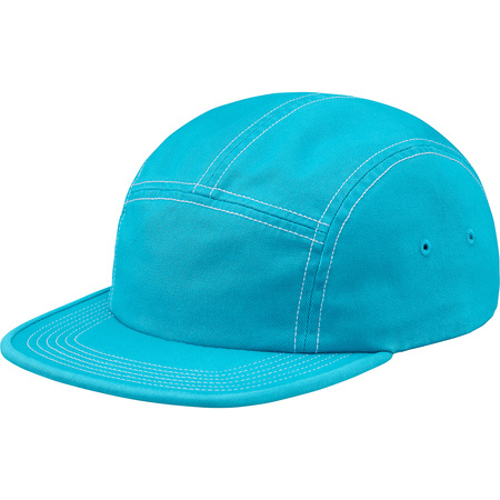 Fitted Rear Patch Camp Cap (Neon Blue)