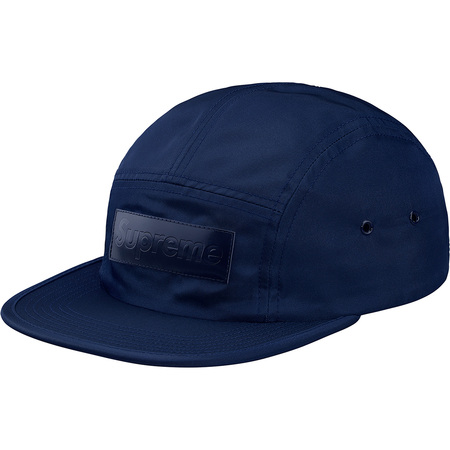 Patent Leather Patch Camp Cap (Navy)