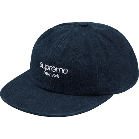 Napped Canvas Classic Logo 6-Panel (Navy)
