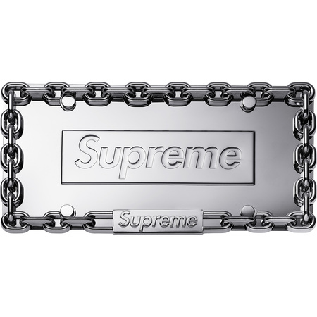 Chain License Plate Frame (Silver)