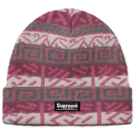 Brushed Pattern Beanie (Purple)