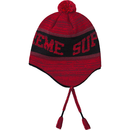 Heathered Earflap Beanie (Red)
