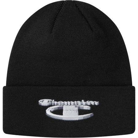 Supreme®/Champion® 3D Metallic Beanie (Black)