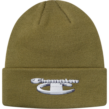 Supreme®/Champion® 3D Metallic Beanie (Olive)