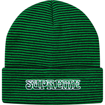Small Stripe Beanie (Green)