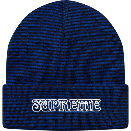 Small Stripe Beanie (Royal)