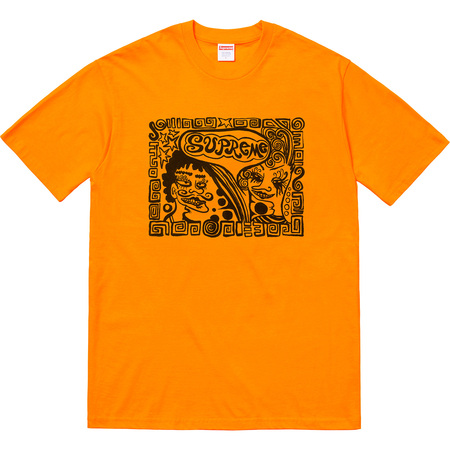 Faces Tee (Bright Orange)