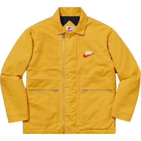Supreme®/Nike® Double Zip Quilted Work Jacket (Mustard)