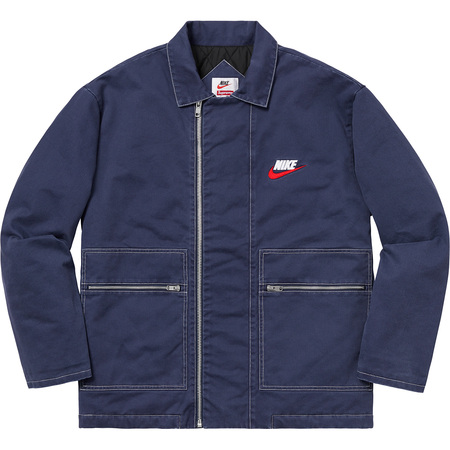 Supreme®/Nike® Double Zip Quilted Work Jacket (Navy)
