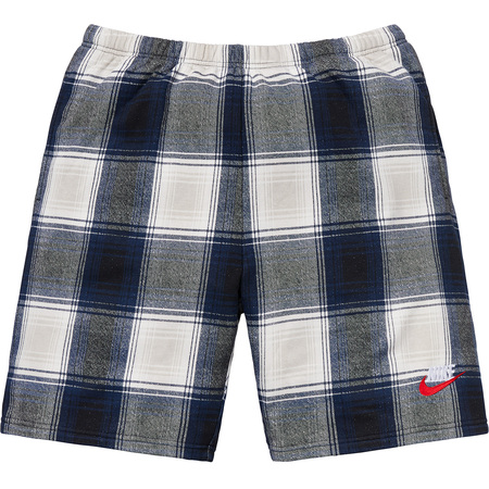 Supreme®/Nike® Plaid Sweatshort (Navy)