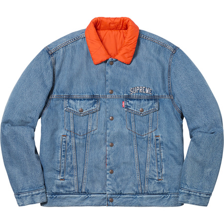 Supreme®/Levi's® Quilted Reversible Trucker Jacket (Blue)