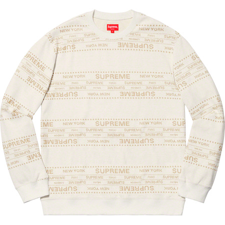 Metallic Jacquard Crewneck (White)