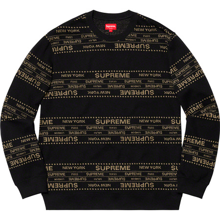 Metallic Jacquard Crewneck (Black)