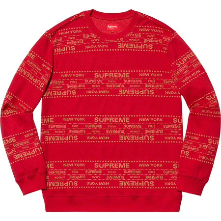 Metallic Jacquard Crewneck (Red)