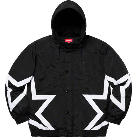 Stars Puffy Jacket (Black)