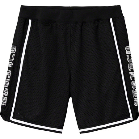 Rhinestone Basketball Short (Black)