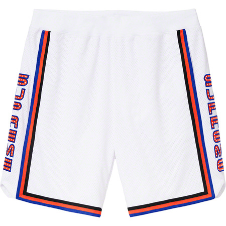 Rhinestone Basketball Short (White)