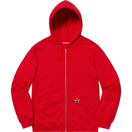 Star Zip Up Sweatshirt (Red)