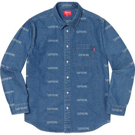 Logo Denim Shirt (Blue)