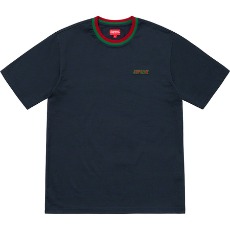 Split Rib S/S Top (Navy)