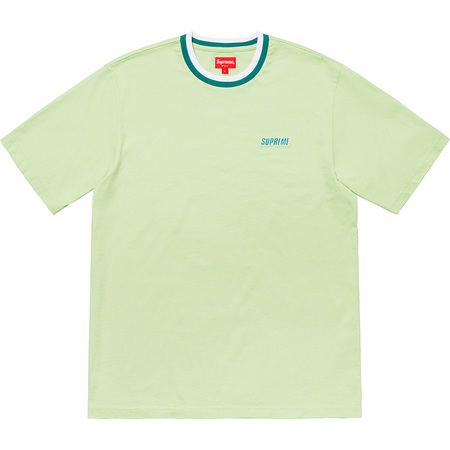 Split Rib S/S Top (Pale Green)