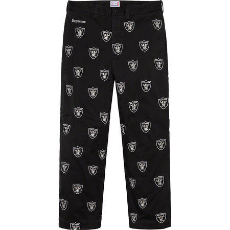 Supreme®/NFL/Raiders/'47 Embroidered Chino Pant (Black)