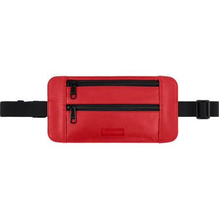 Leather Waist/Shoulder Pouch (Red)