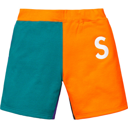 S Logo Colorblocked Sweatshort (Orange)