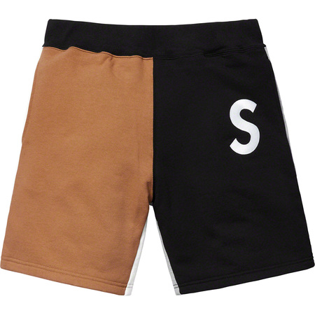 S Logo Colorblocked Sweatshort (Black)