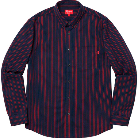 Stripe Twill Shirt (Navy)