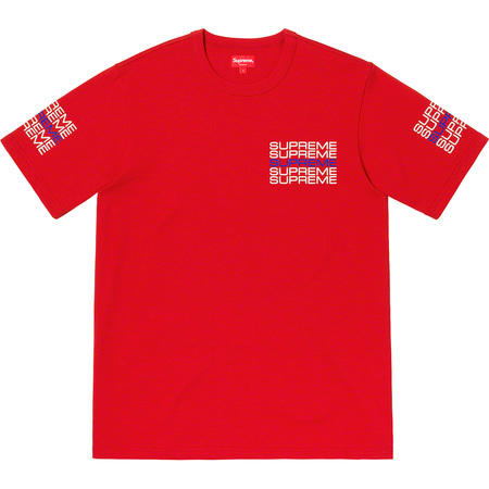 Stack Logo Tee (Red)