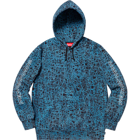 Marble Hooded Sweatshirt (Blue)