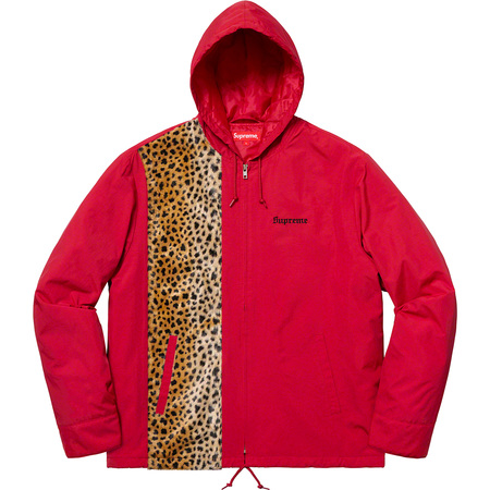 Cheetah Hooded Station Jacket (Red)