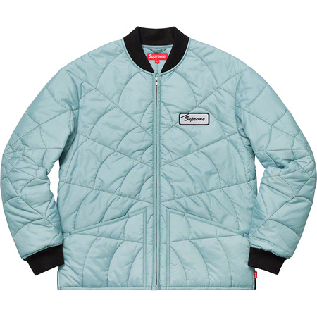 Spider Web Quilted Work Jacket (Ice)