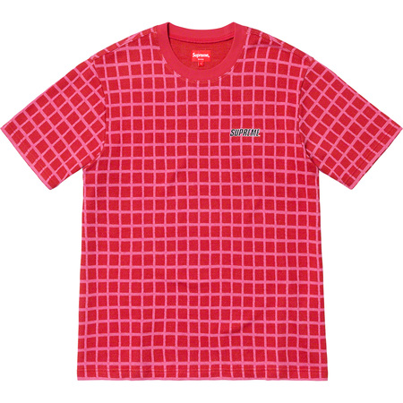 Grid Jacquard S/S Top (Red)