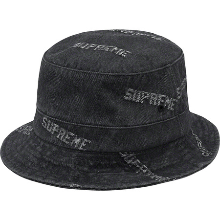 Logo Denim Crusher (Black)