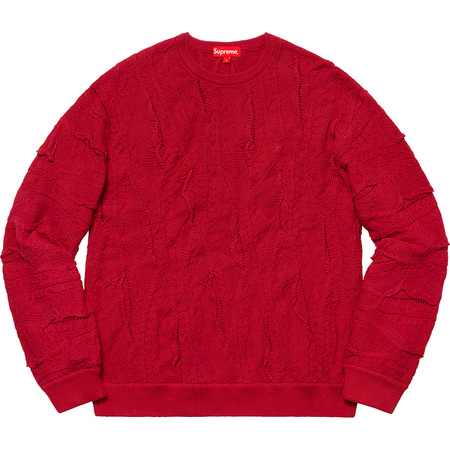 Textured Pattern Sweater (Red)
