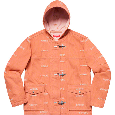 Logo Denim Turnout Jacket (Orange)