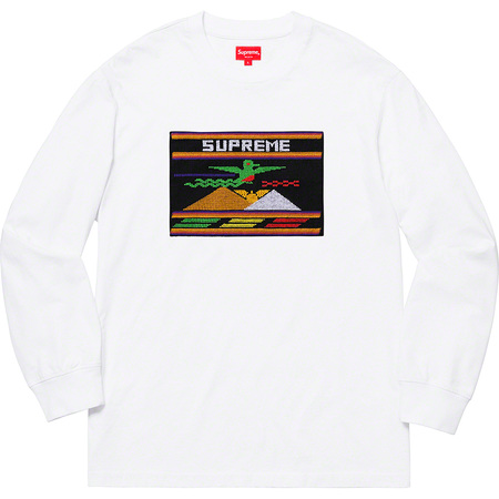 Needlepoint Patch L/S Top (White)