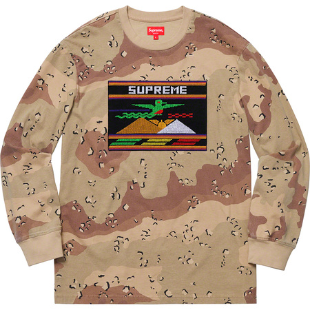 Needlepoint Patch L/S Top (Chocolate Chip Camo)