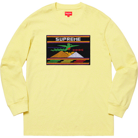 Needlepoint Patch L/S Top (Pale Yellow)