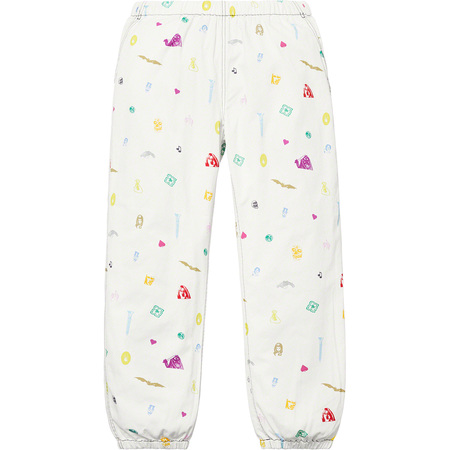 Deep Space Skate Pant (White)
