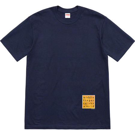 Middle Finger To The World Tee (Navy)