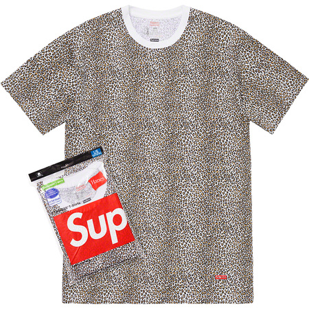 Supreme®/Hanes® Leopard Tagless Tees (2 Pack) (Leopard)