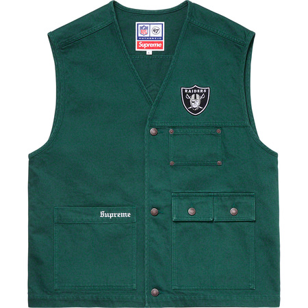 Supreme®/NFL/Raiders/'47 Denim Vest (Dark Green)