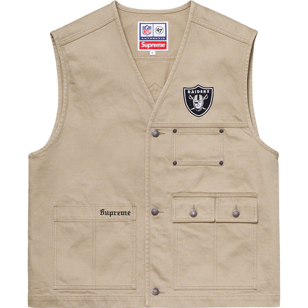 Supreme®/NFL/Raiders/'47 Denim Vest (Khaki)