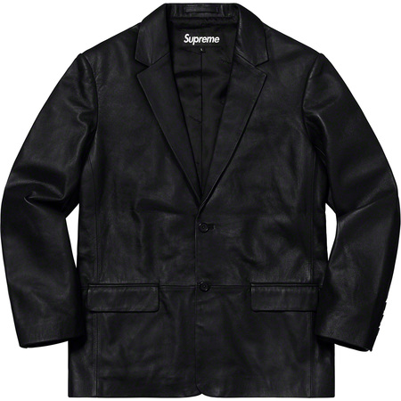 Leather Blazer (Black)