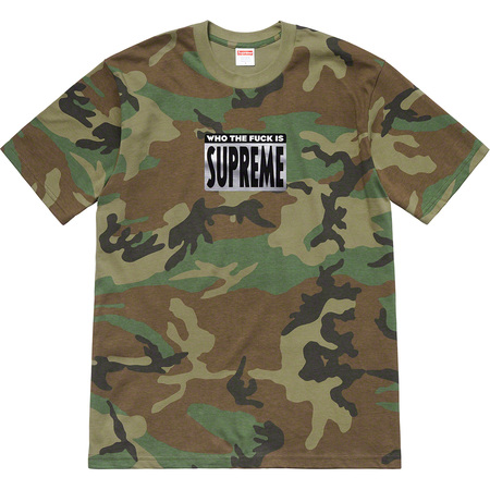 Who The Fuck Tee (Woodland Camo)